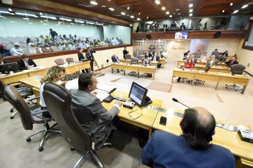 Plenário da Assembleia Legislativa do RN, durante votação do primeiro projeto do pacote fiscal do governo do RN (Foto: Eduardo Maia/Assembleia Legislativa do RN)