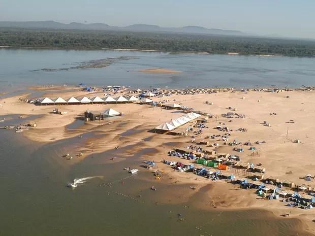 Praia de Araguacema já formalizou licença para a temporada 2016 (Foto: Luciano Ribeiro/Governo do Tocantins/Divulgação)