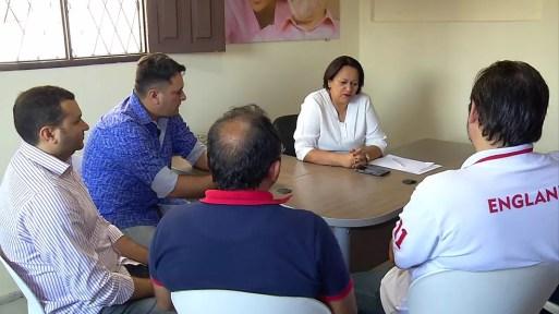 Fátima Bezerra (PT) se reuniu com lideranças políticas do interior do RN nesta terça (21) (Foto: Reprodução/Inter TV Cabugi)
