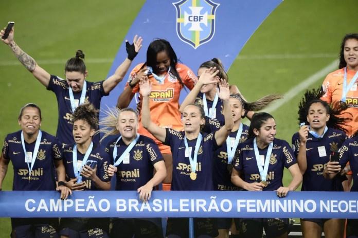 Corinthians campeão do Brasileiro Feminino — Foto: Marcos Ribolli