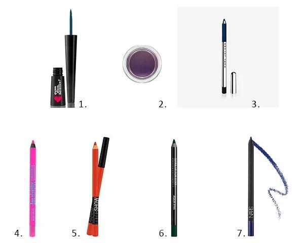 UMa seleção de delineadores coloridos para você experimentar (Foto: Divulgação)
