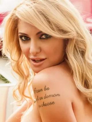 Antonia Fontenelle na revista Playboy (Foto: Reprodução / Revista Playboy)