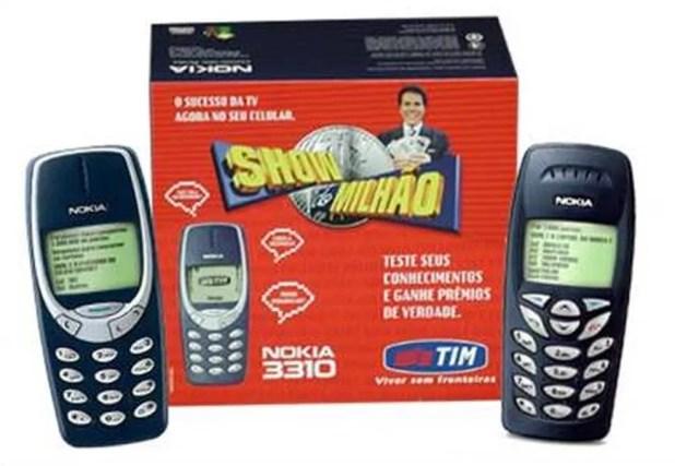 Celular do Show do Milhão foi lançado em parceria do SBT com a Nokia e a Tim (Foto: Divulgação)