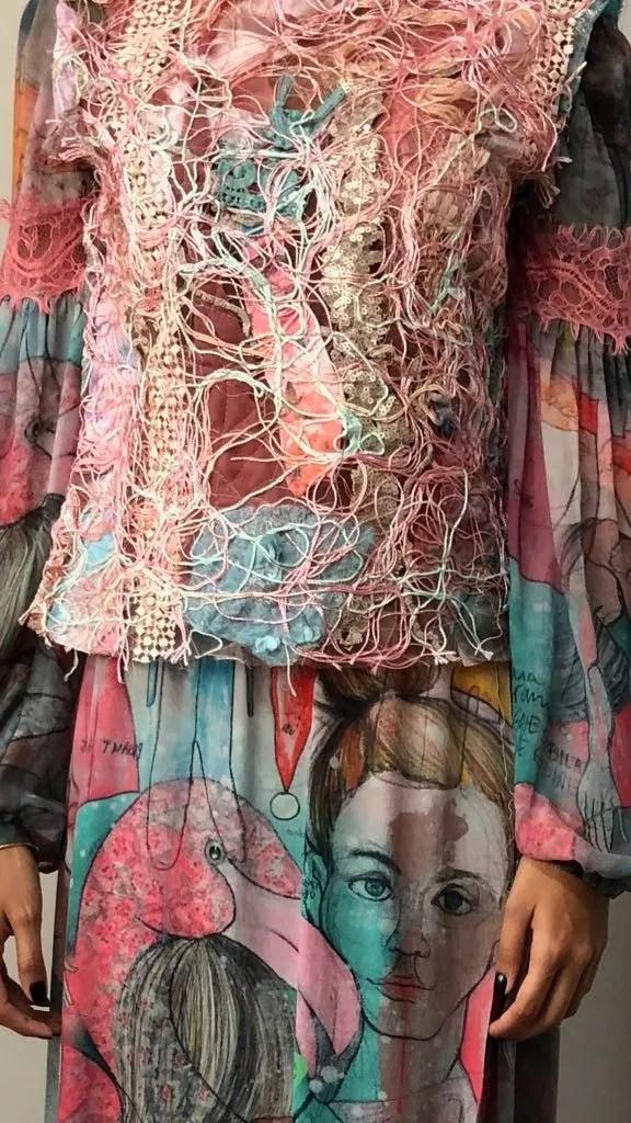 Preview das primeiras peças com retalhos de tecidos da Fabiana Milazzo (Foto: Divulgação)