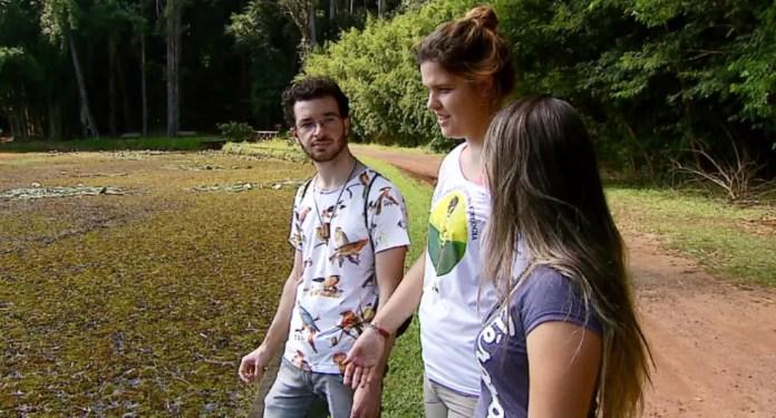 Estudantes da Unesp de rio Claro perceberam a presença do animal na Floresta (Foto: Reprodução/EPTV)