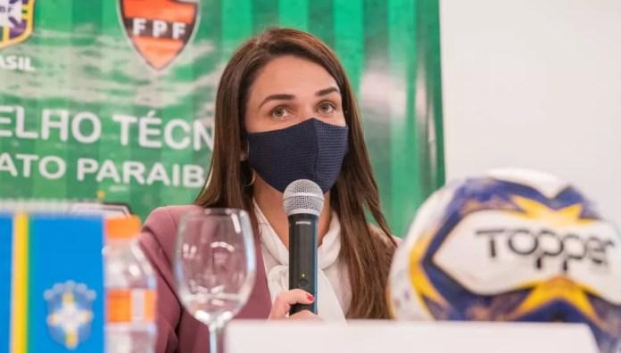 Michelle Ramalho vai se reunir com os dirigentes dos clubes para discutir o adiamento do Campeonato Paraibano — Foto: Rômulo Melquíades / FPF-PB