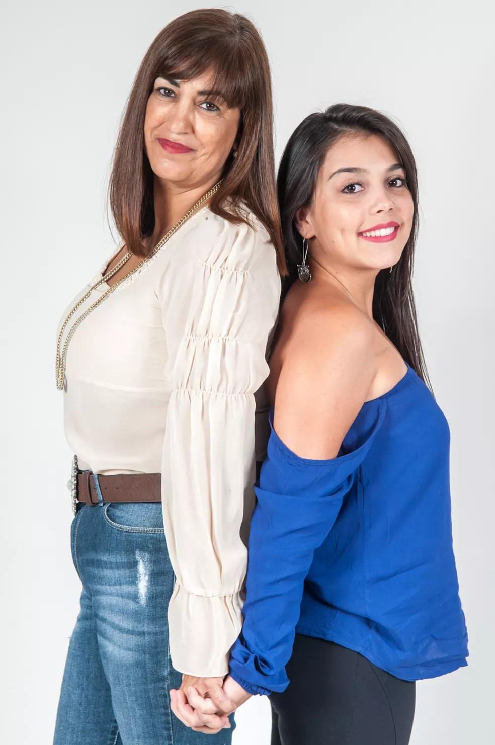 Jeane Pereira de Lima Collaço adotou a filha Roseane Botto quando ela tinha 12 anos  (Foto: Alexandre Maciel/Arquivo Pessoal)