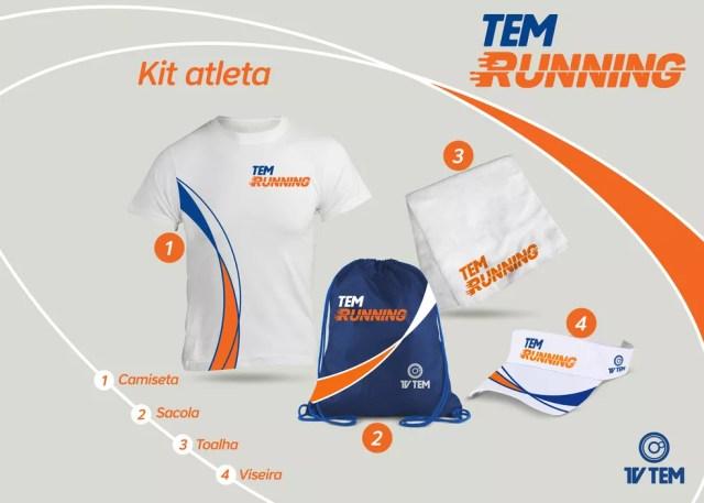 Kit atleta do TEM Running 2018 (Foto: TV TEM)