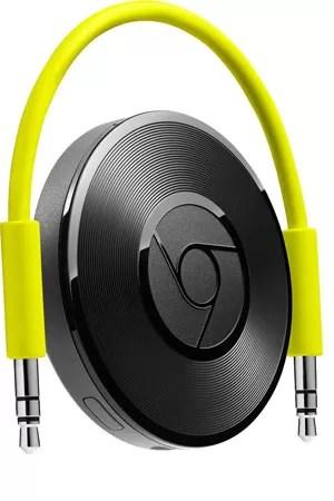 Chromecast Audio conecta serviços de streaming de música de smartphones a alto-falantes. (Foto: Divulgação/Google)