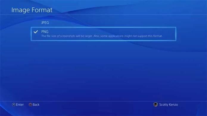 Captura de tela em PNG no PS4 tem mais qualidade (Foto: Divulgação/Sony)