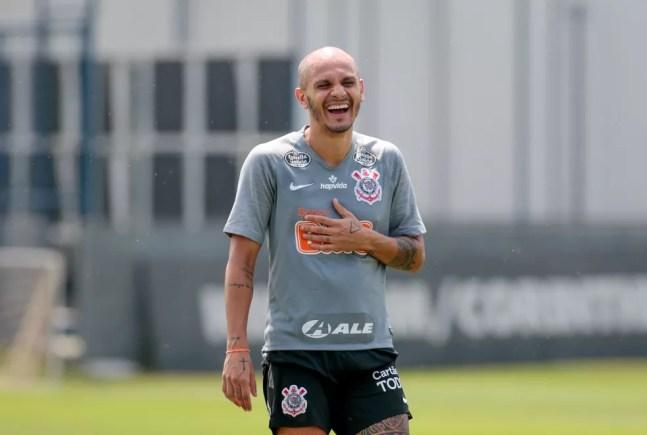 Fábio Santos, do Corinthians — Foto: Rodrigo Coca/Ag. Corinthians