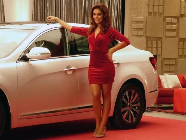 Rosângela grava seu primeiro comercial (Foto: Salve Jorge/TV Globo)