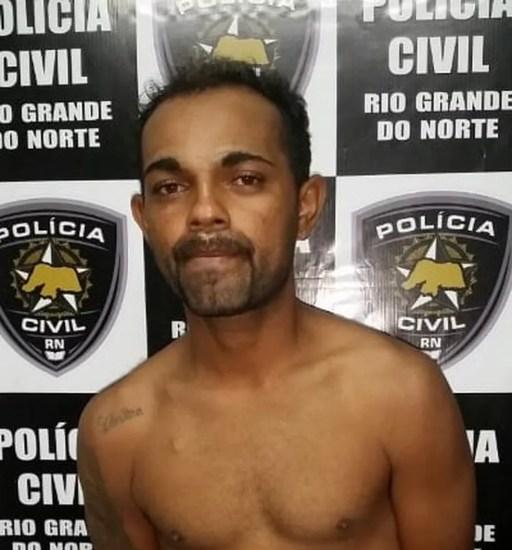 Adenilson Nunes da Silva foi preso e confessou o crime à Polícia Civil do RN (Foto: Divulgação/Polícia Civil)