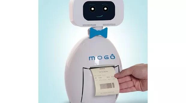 Mogô, de Pato Branco, no Paraná, desenvolveu um robô de autoatendimento que pode reduzir custos em bares e restaurantes self service (Foto: Divulgação)