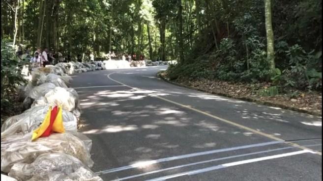 Curva onde aconteceu o acidente no Mundial de Downhill na Vista Chinesa — Foto: Ben-Hur Corrêa