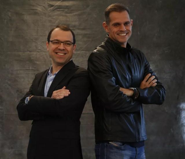 Mario Teixeira e Leonardo Nogueira no evento para a imprensa (Foto: Marina Pirozi/Gshow)