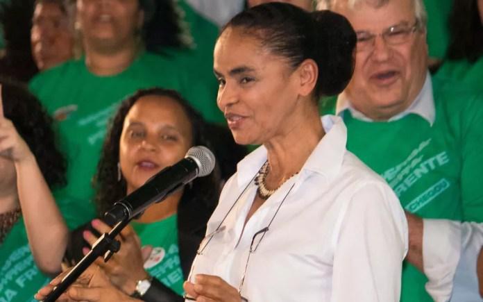 A ex-senadora Marina Silva é oficializada pela Rede candidata à Presidência (Foto: Tiago Hardman/Futura Press/Estadão Conteúdo)