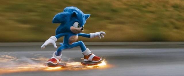 Cena de 'Sonic - O filme', que também está em cartaz  — Foto: Divulgação
