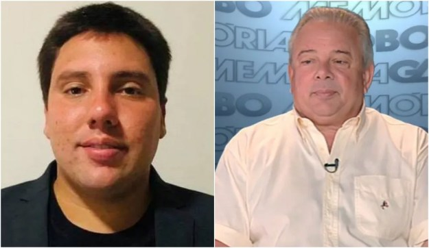 Lucas Valle e o avô, o narrador Luciano do Valle, morto em 19 de abril de 2014 — Foto: Reprodução/Redes Sociais