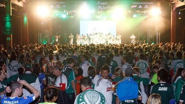 Torcida Palmeiras (Foto: Gustavo Tilio / Globoesporte.com)