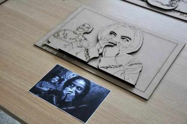 Versão 3D são feitas a partir de fotografias clicadas por deficientes visuais (Foto: Divulgação)