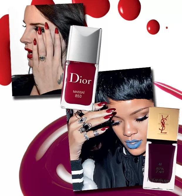 As pop stars são fãs: Rihanna e Lana Del Rey cultivam garras arredondadas e extralongas (Foto:  )