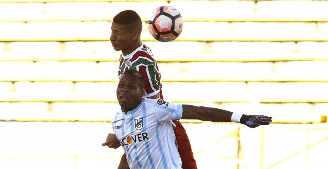 Partida contra a Universidad Católica de Quito pode ter sido a última de Richarlison pelo Flu (Foto: Nelson Perez/Fluminense FC)