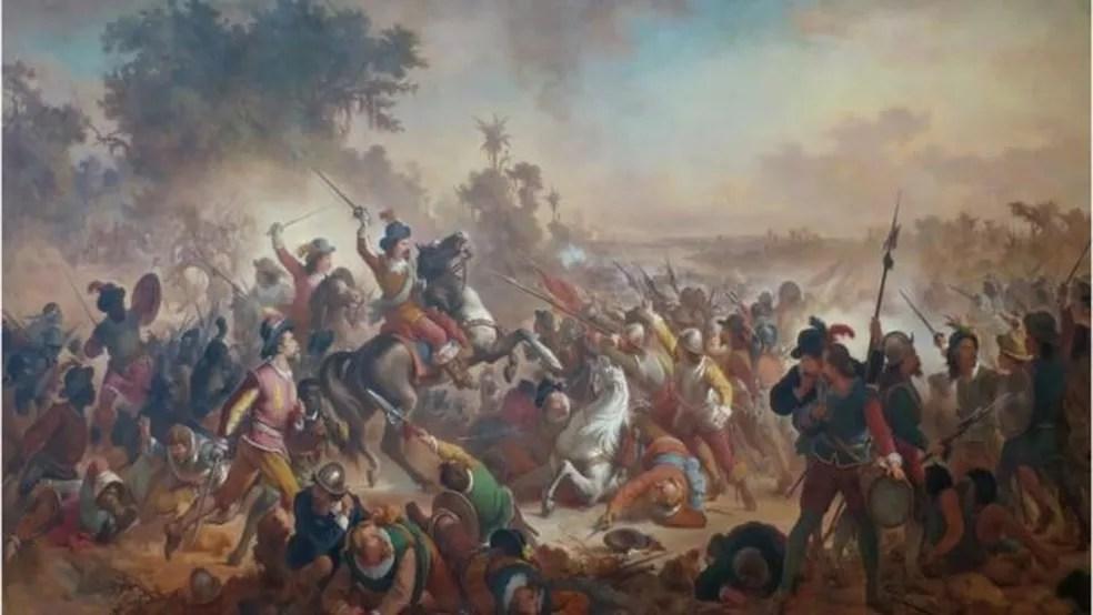 Batalhas dos Guararapes levaram ao fim do domínio holandês — Foto: WIKICOMMONS/BBC