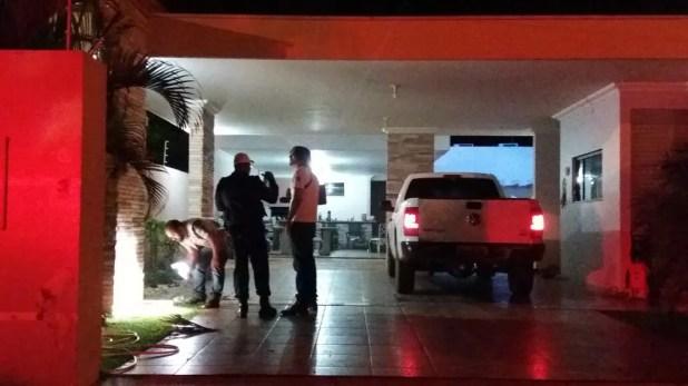 Perícia esteve no local buscando elementos para as investigações (Foto: Renato Barros/Arquivo pessoal)