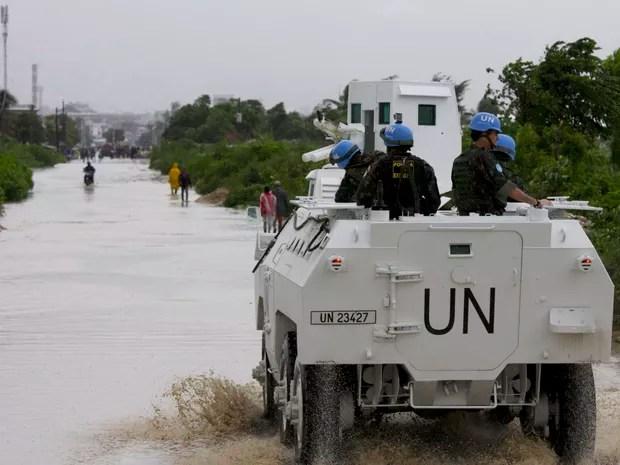 Tropas do Brasil começam a chegar em áreas isoladas pelo furação Matthew no Haiti (Foto: Contingente do Brasil no Haiti/Ministério da Defesa)