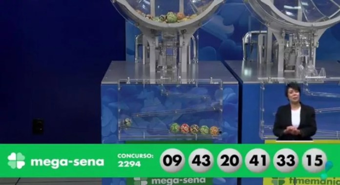 Concurso 2.294 da Mega-Sena — Foto: Reprodução