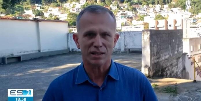 Coronel Nylton, candidato a prefeito pelo Novo — Foto: Reprodução/TV Gazeta