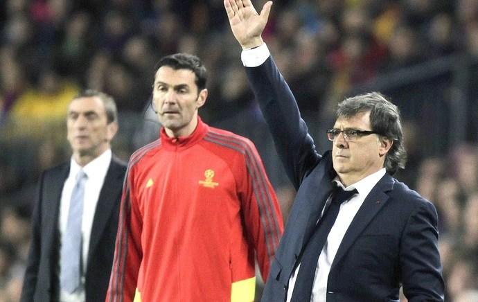 Tata Martino jogo Barcelona e Manchester City (Foto: EFE)
