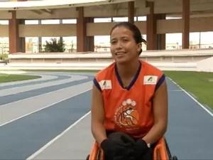 Débora Costa é paratleta e superou as fortes dores musculares. (Foto: Reprodução/TV Liberal)