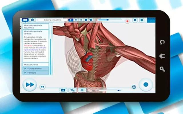 Aplicativo da EvoBooks exibe conteúdo didático em 3D e em alta resolução para levar experiências dos alunos com games à sala de aula (Foto: Divulgação/EvoBooks)