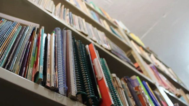 Por mês são retirados 500 livros do acervo literário pelos detentos (Foto: Carlos Dias/G1)