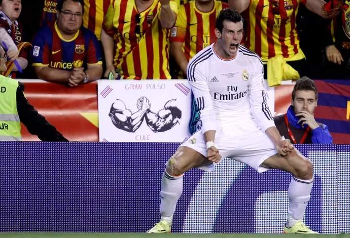 Bale Barcelona x Real Madrid - Copa do Rei (Foto: AP)