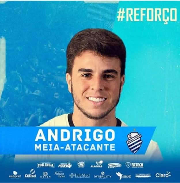 Andrigo foi contratado em março — Foto: ASCOM CSA
