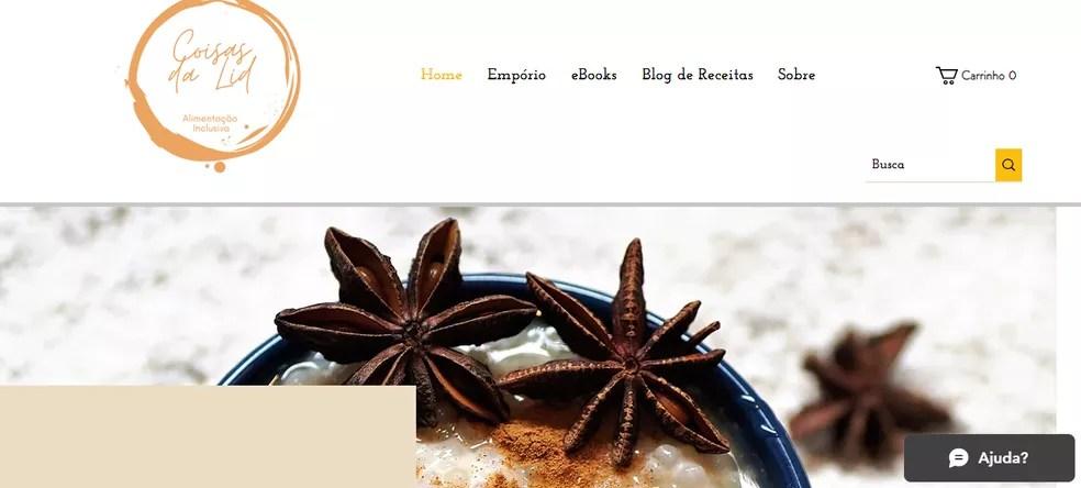 Blog reúne receitas e também lista produtos específicos  — Foto: Reprodução
