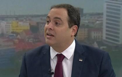 Governador Paulo Câmara em entrevista ao Bom Dia PE desta segunda-feira (7) — Foto: Reprodução/TV Globo
