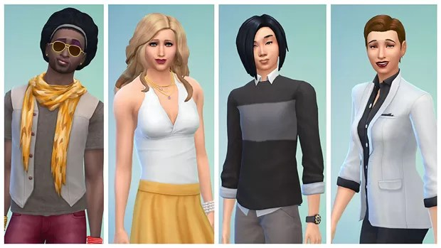 Personagens de 'The Sims 4' agora não têm separação por gênero (Foto: Divulgação/Electronic Arts)
