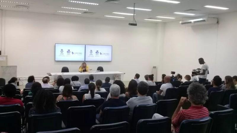 Dados foram divulgados pelo Instituto de Geociências da Universidade Federal da Bahia (UFBA) durante coletiva de imprensa  — Foto: Cid Vaz/TV Bahia
