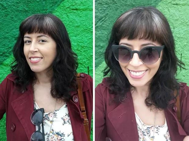 A socióloga Márcia Mesquita começou a ter fios brancos aos 20 anos (Foto: Arquivo Pessoal)
