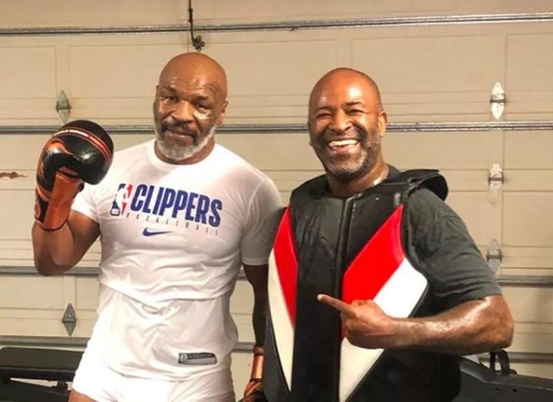 Mike Tyson é treinado, atualmente, pelo brasileiro Rafael Cordeiro — Foto: Reprodução/Instagram
