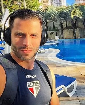 Henri Castelli, com camisa do São Paulo (Foto: reprodução / Instagram)
