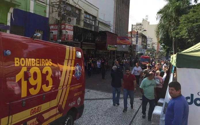 Idoso foi atropelado no Calçadão de Rio Preto  — Foto: Fernando Daguano/TV TEM/Arquivo