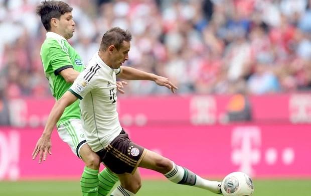 Diego e Rafinha Bayern x Wolfsburg Bundesliga (Foto: afp)
