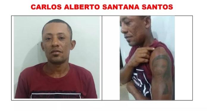 Carlos Alberto dos Santos é procurado pela polícia em RO — Foto: Reprodução