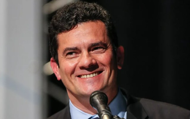O juiz Sérgio Moro, que deu palestra nesta segunda-feira (5) em Curitiba, no PR — Foto: Geraldo Bubniak/AGB/Estadão Conteúdo