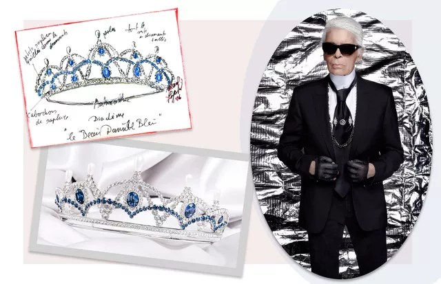 Karl Lagerfeld cria item exclusivo com Swarovski para Vienna Opera Ball 2017 (Foto: Reprodução)
